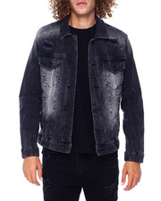 SMOKE RISE - RIP AN REPAIR DENIM JACKET-2397289