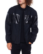 Mens-Fall - Glazed Stripe Bomber Jacket-2397595