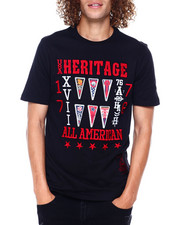 Shirts - EMBROIDERED COLLEGIATE FLAG TEE-2397417