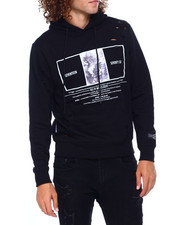Mens-Fall - Distressed Wolf Hoody-2397458