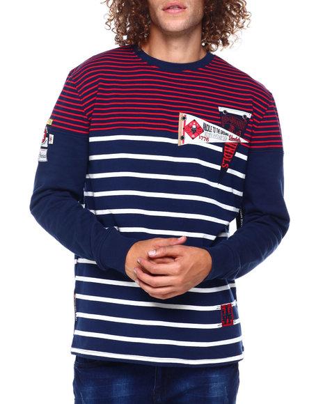Heritage America - Stripe Collegiate Crew Sweatshirt
