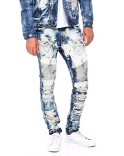 Mens-Fall - Distressed Wolf Patches Jean-2397609