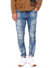 Mens-Fall - Worn Out Moto Jean-2397617