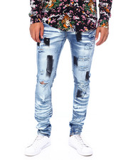 Mens-Fall - Oil Slick Rip Detail Jean-2397362