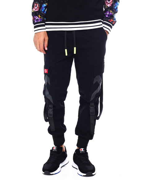 SWITCH - Twill Jogger w Buckle Strap