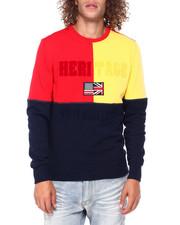 Heritage America - Colorblock Flag Crewneck Sweatshirt-2397438