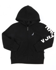 Nautica - Leon Sleeve Logo Hoodie (4-7)-2398296