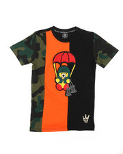 Tops - Camo Cut & Sew Tee W/ Chenille Patch (8-20)-2398356