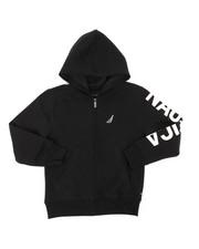 Nautica - Leon Sleeve Logo Hoodie (8-20)-2398274