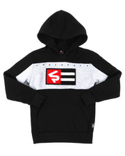 Hoodies - Pullover Fleece Hoodie W/ Chenille Patch (8-20)-2398414