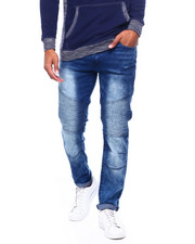 Jeans & Pants - Faded Moto Jean -Dark Blue Wash-2399382