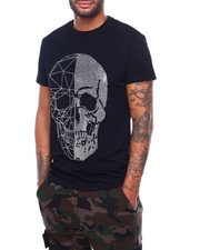 Shirts - Split Geo Crystal Skull Tee-2398210