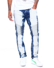 Jeans & Pants - Faded Moto Jean -Dark Blue Wash-2399587