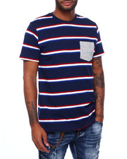 Shirts - DAVIDSON STRIPE CREW TEE-2398660