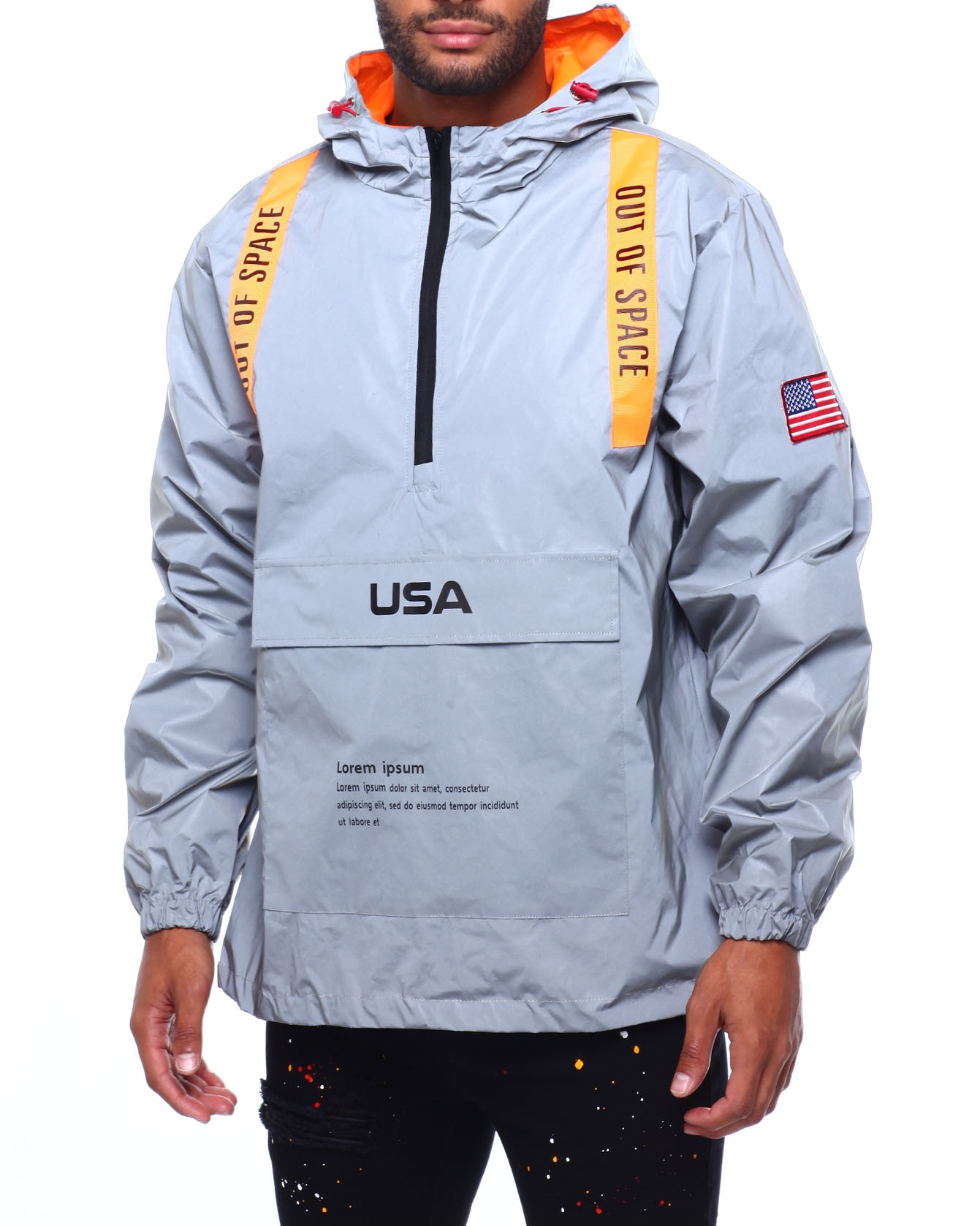Buy Reflective Space Windbreaker Outerwear from Buyers Picks