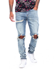 Mens-Fall - Ripped Jean in Stone Wash-2399288
