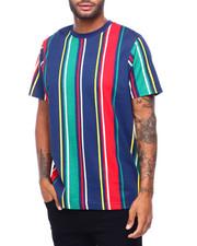 Shirts - BOLD STRIPE TEE -GREY BLACK RED-2398567