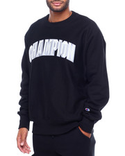 Mens-Fall - BLOCK ARCH REVERSE WEAVE CREW SWEATSHIRT-2399054