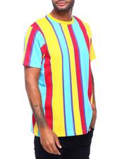 Shirts - BOLD STRIPE TEE -GOLD RED TURQ-2398557