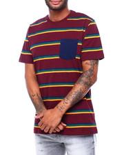 Shirts - DAVIDSON STRIPE CREW TEE-2398120