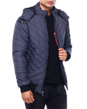 MADBLUE - Quilted Bomber Jacket W Hood-2400251