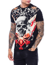 Shirts - Skull Roses and Insect Crystal Tee-2399660