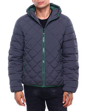 Holiday Shop - Quilted Bubble Jacket Contrast Lining-2400239