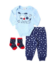 Duck Duck Goose - 3 Piece Pan Set w/ Socks (NEWBORN)-2398063