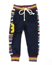 Activewear - Jogger Pants W/ Stripes & Chenille Patch (2T-4T)-2398965