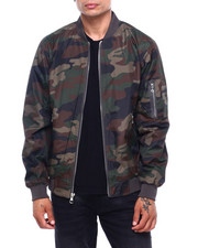 Mens-Fall - Defend Lightweight Camo Ma-1 Jacket-2400170