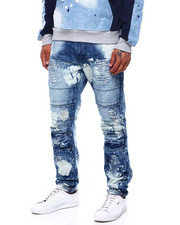 Men - Bleached out Seamed Moto Jean-2399750