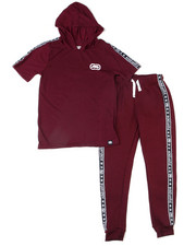 Sets - 2PC S/S Jrsy Hooded Tee Jogger Set (2T-4T)-2398018