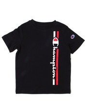 Champion - Vertical Script W/Line SS Tee (4-7)-2398097