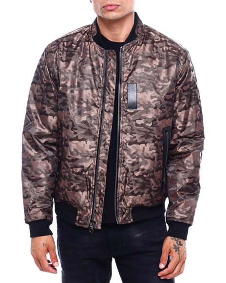 Buyers Picks - JACQUARD CAMO BOMBER JACKET