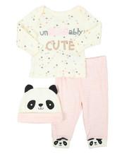 Duck Duck Goose - 3 Piece Knit Set W/ Hat (Infant)-2399615
