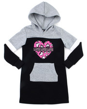 Dresses - Fleece Sweatshirt Dress (4-6X)-2399030