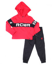 Boys - 2PC S/S Hoodie + Twill Jogger Set (2T-4T)-2398385