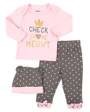 Duck Duck Goose - 3 Piece Knit Set W/ Hat (Infant)-2399611