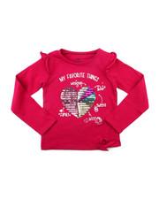 Tops - Ruffle Sleeve Sequin Graphic Top (7-16)-2399147