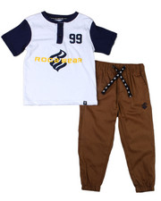 Boys - 2PC S/S Tee + Twill Jogger Set (4-7)-2398389