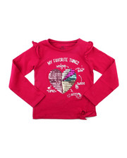 Girls - Ruffle Sleeve Sequin Graphic Top (2T-4T)-2399158