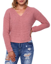 Sweaters - Double V L/S Chenille Pullover-2396093