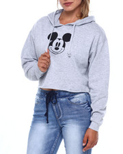 Graphix Gallery - Mickey Crop Fleece Hoodie-2396726