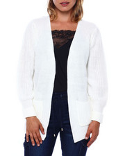 Almost Famous - 2 Pocket Open Front B/F Cardigan-2396098