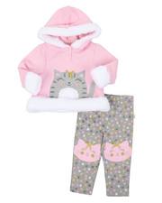 Girls - Fur Trimmed Hooded Fleece Set (Infant)-2399631