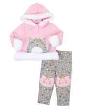 Duck Duck Goose - Fur Trimmed Hooded Fleece Set (Infant)-2399631
