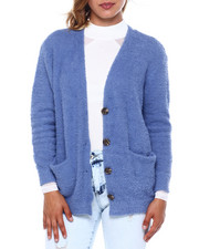 Almost Famous - Teddy Yarn V Nk Button Frt Cardigan-2397043