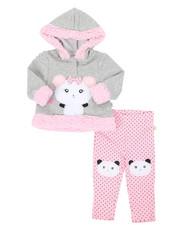 Girls - Fur Trimmed Hooded Fleece Set (Infant)-2399627