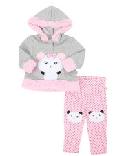Duck Duck Goose - Fur Trimmed Hooded Fleece Set (Infant)-2399627