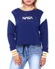 Sweaters - Nasa Inset Skimmer Crew Neck Pullover-2400459